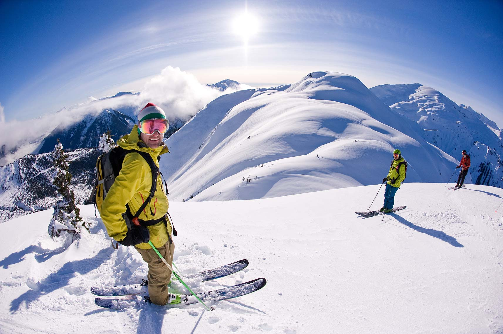 Terrace backcountry skiers