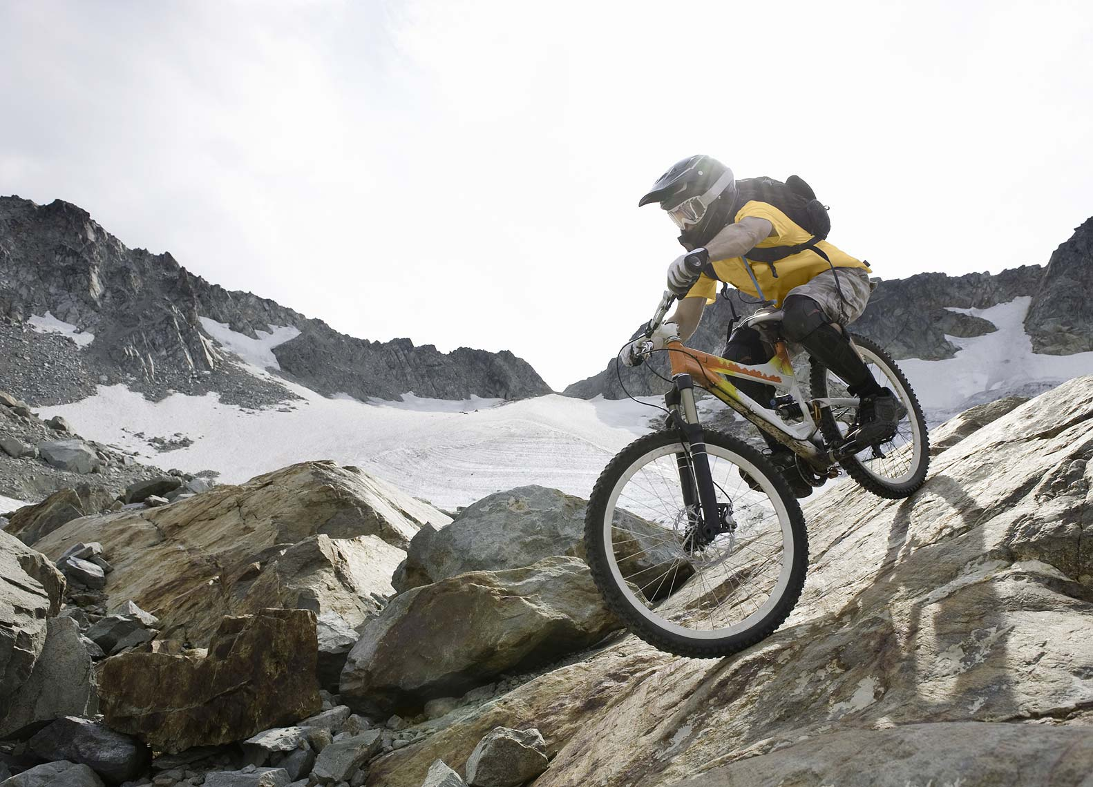 Whistler alpine mountain biker
