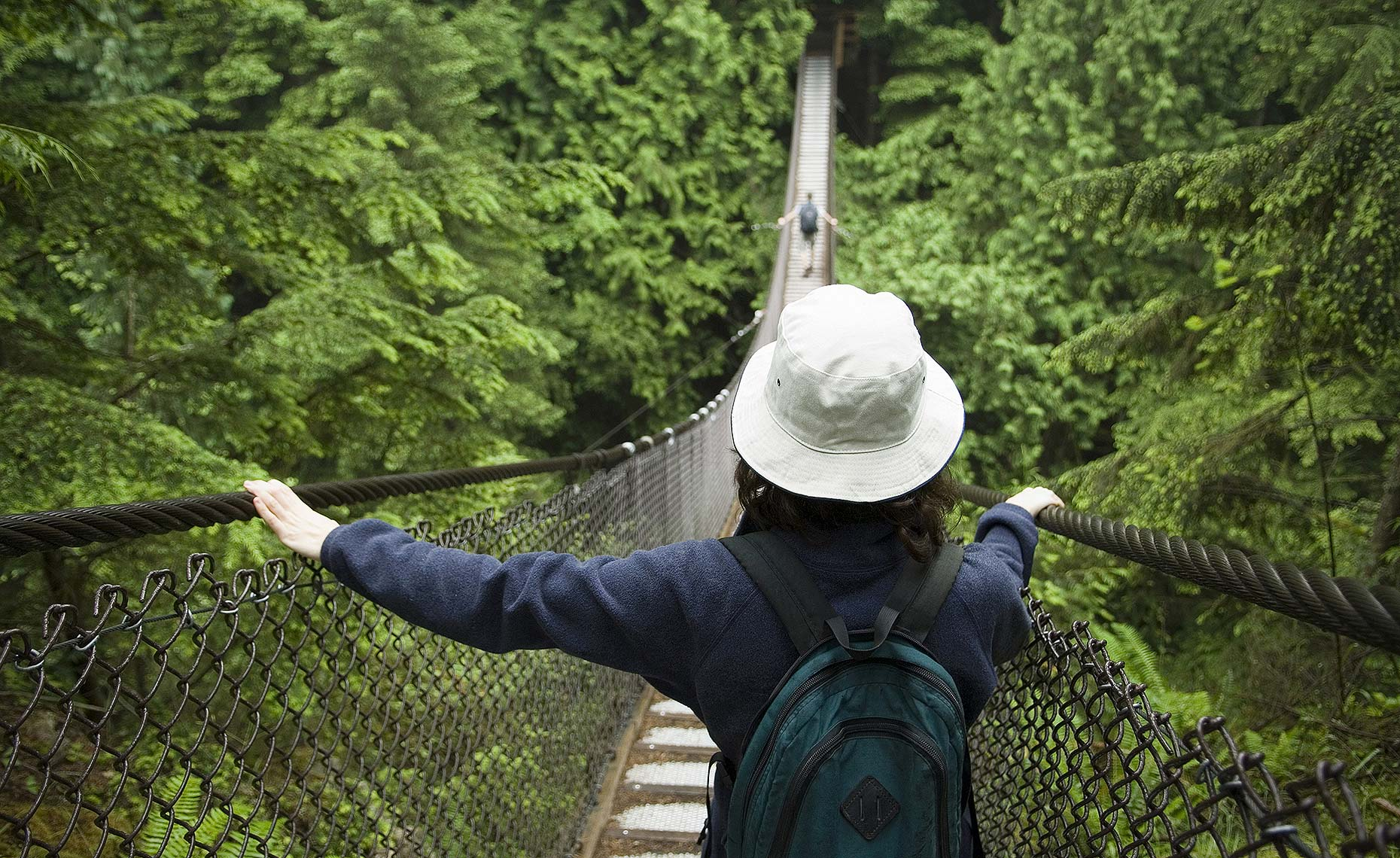 suspension bridge Lynn Canyon Vancouver