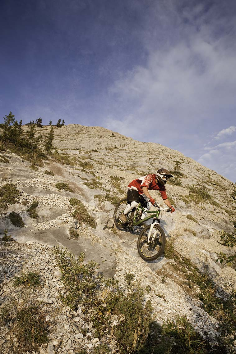 Whitehorse mountain biker