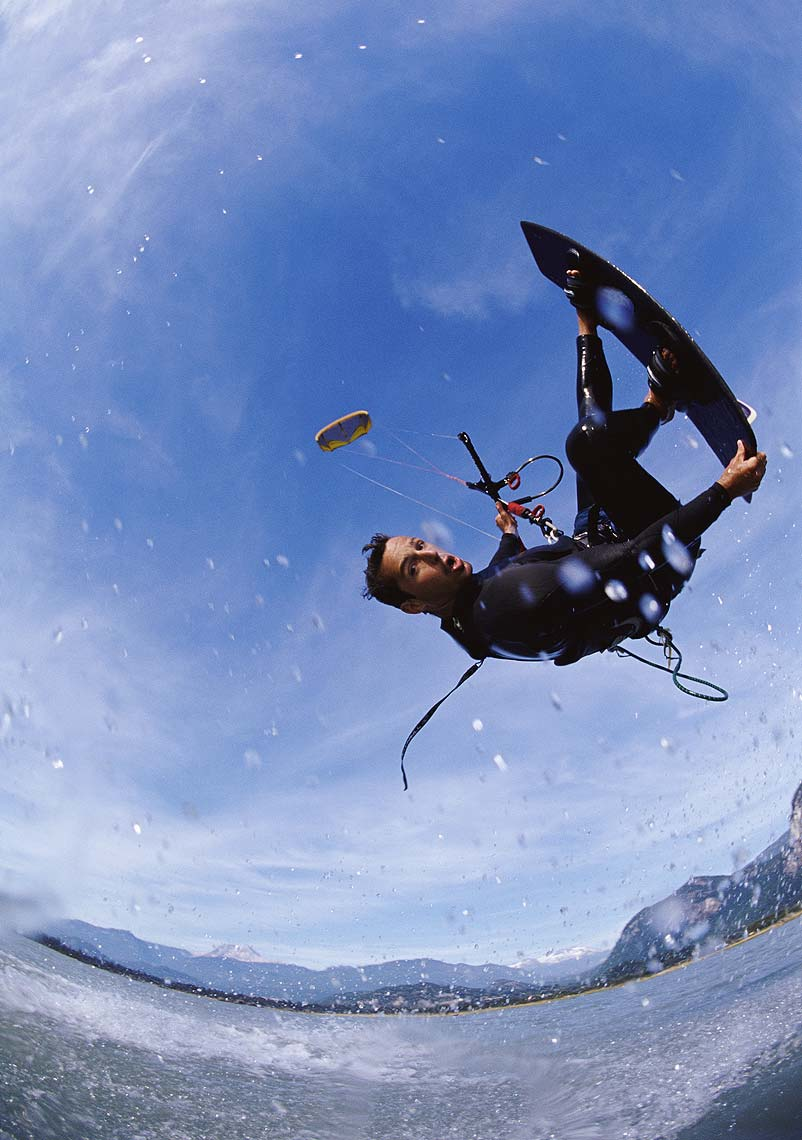 Squamish kiteboarder jumping