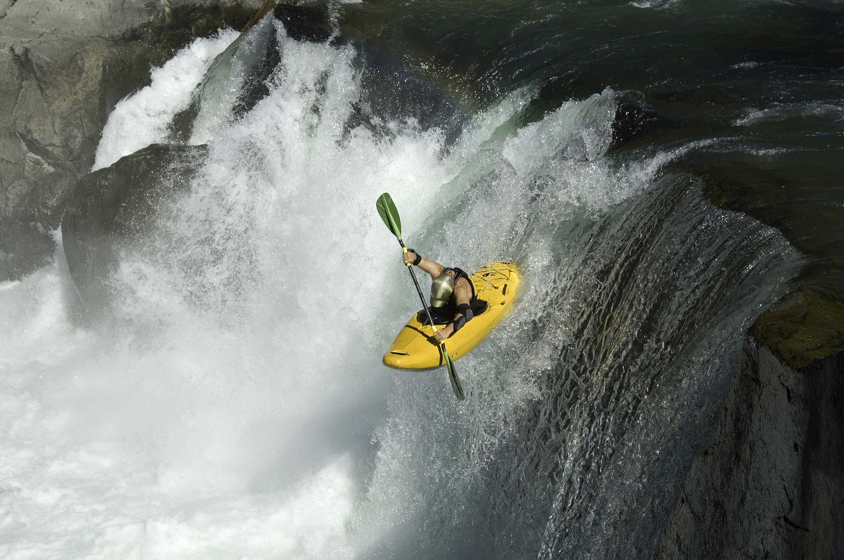 Whistler kayaker jumping waterfalls