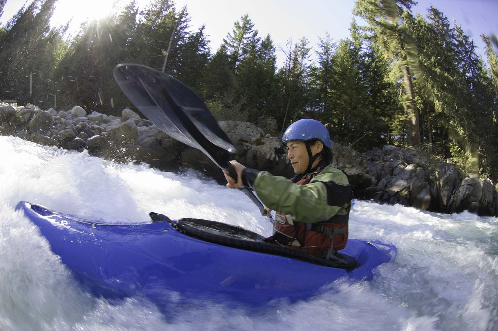 Whistler whitewater kayaker