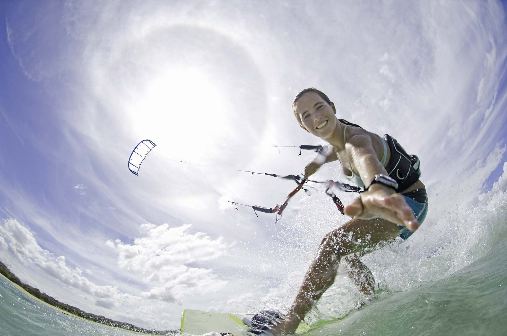 Maui female kiteboarder